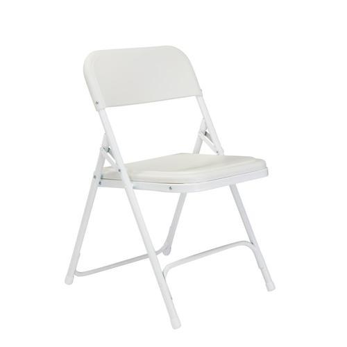 Fabulous National Public Seating 4 Pack Outdoor White Metal Solid Frankydiablos Diy Chair Ideas Frankydiabloscom