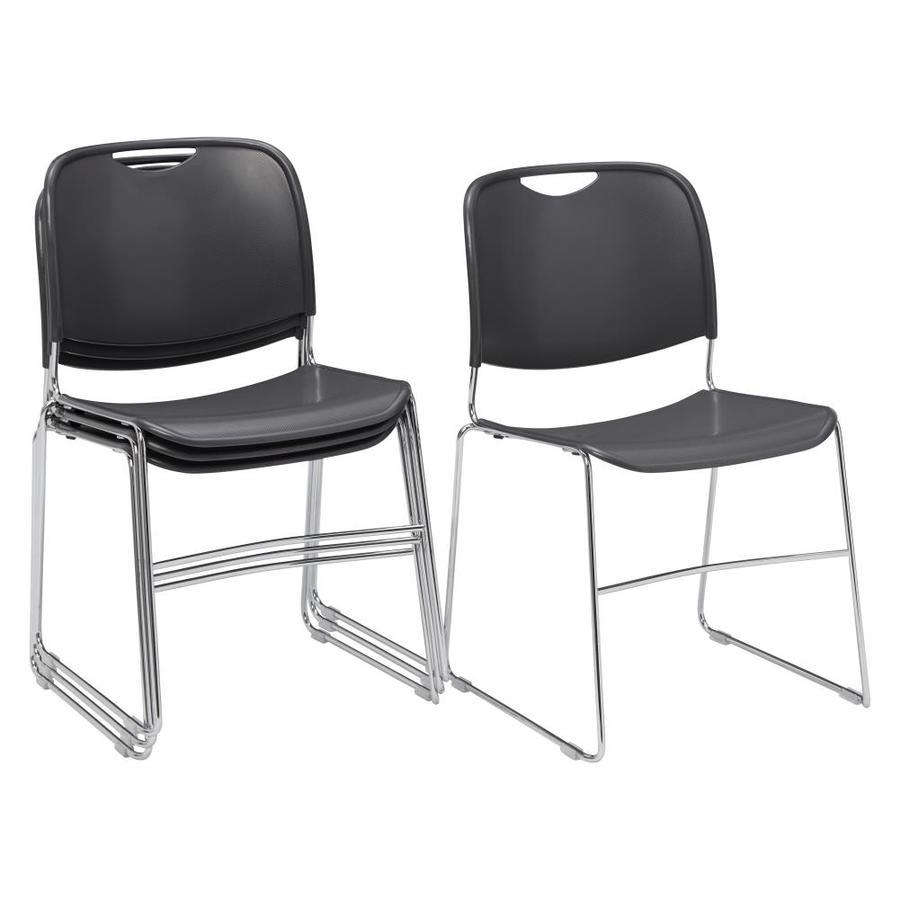 National Public Seating 4-Piece Chrome Frame Stackable Reception Chair