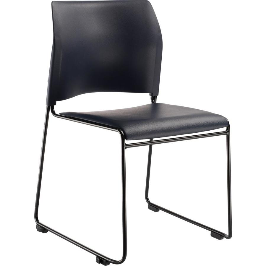 National Public Seating Black Powder Coat Frame Stackable Reception Chair