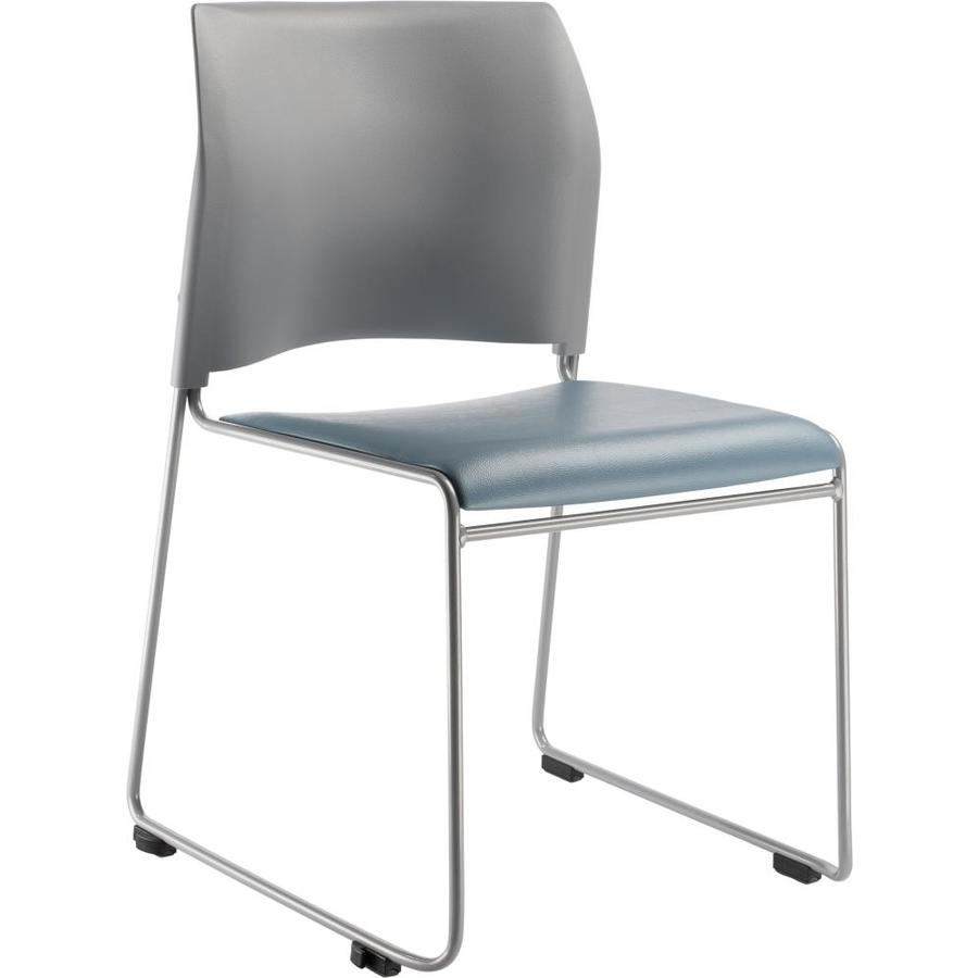 National Public Seating Silver Powder Coat Frame Stackable Reception Chair
