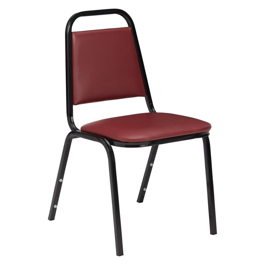 National Public Seating Burgundy Stackable Side Chair