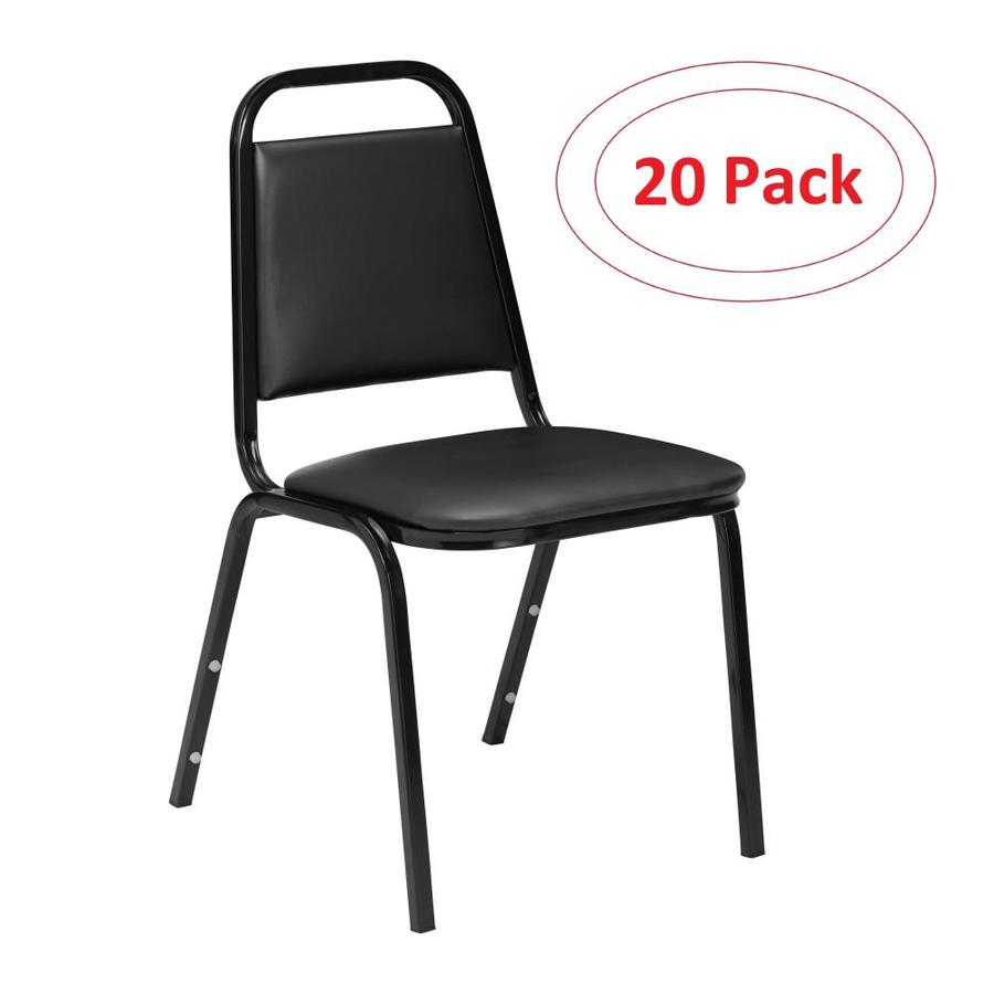 National Public Seating 20-Piece Powder Coat Frame Stackable Reception Chairs