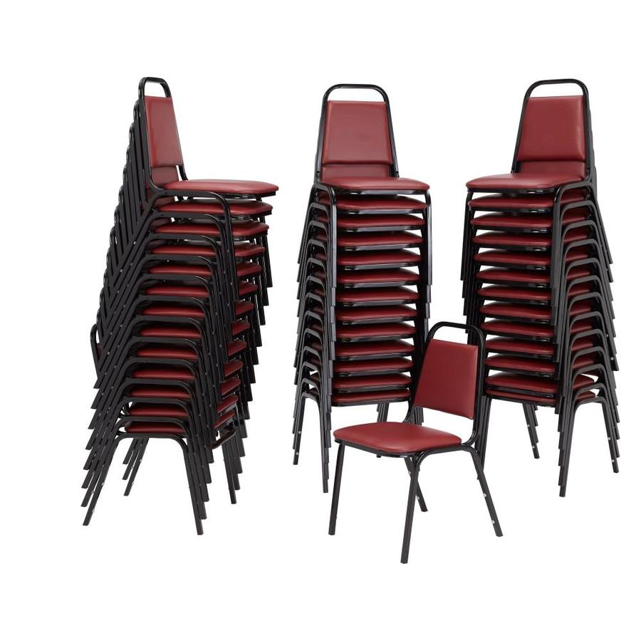 National Public Seating 40-Piece Powder Coat Frame Stackable Reception Chairs