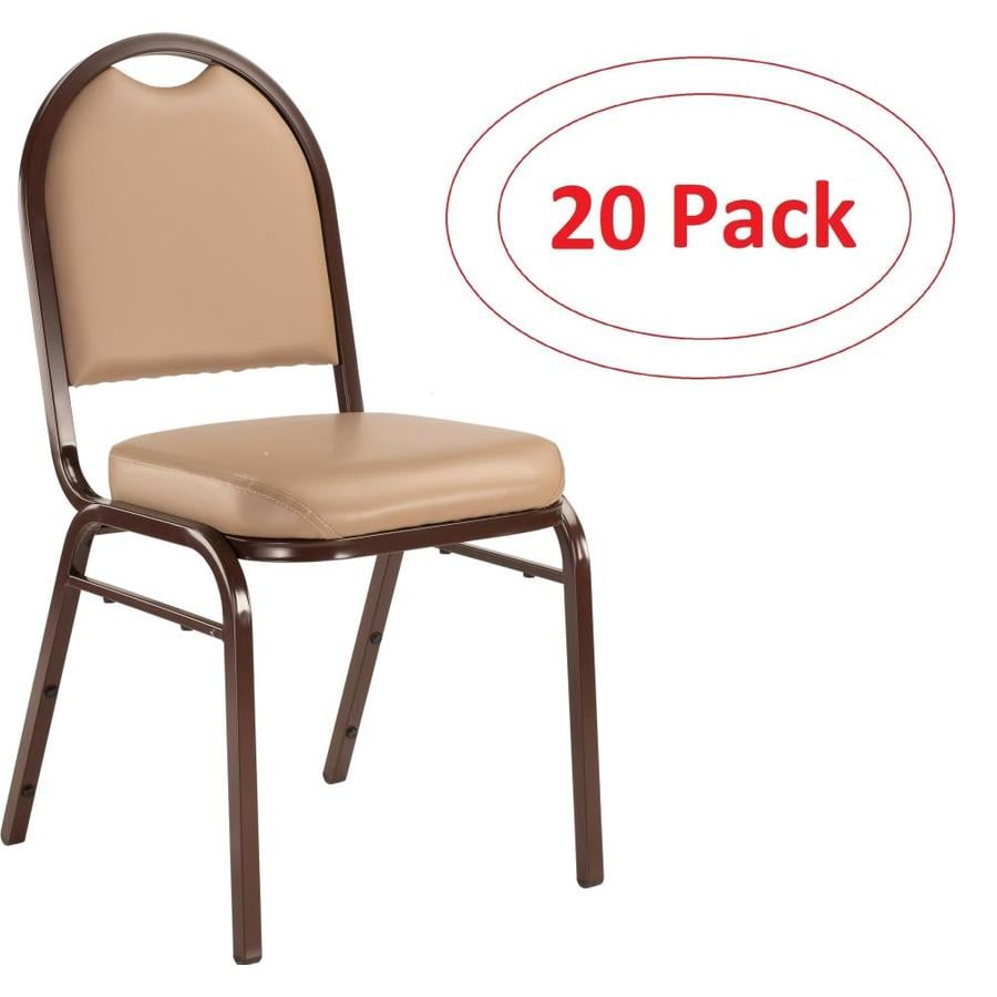 National Public Seating 20-Piece Mocha Frame Stackable Reception Chairs