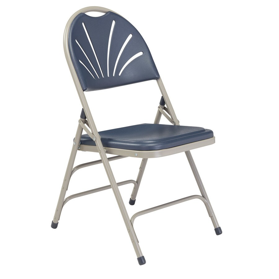 National Public Seating 4 Pack Indoor Only Steel Navy Blue Banquet Folding Chair