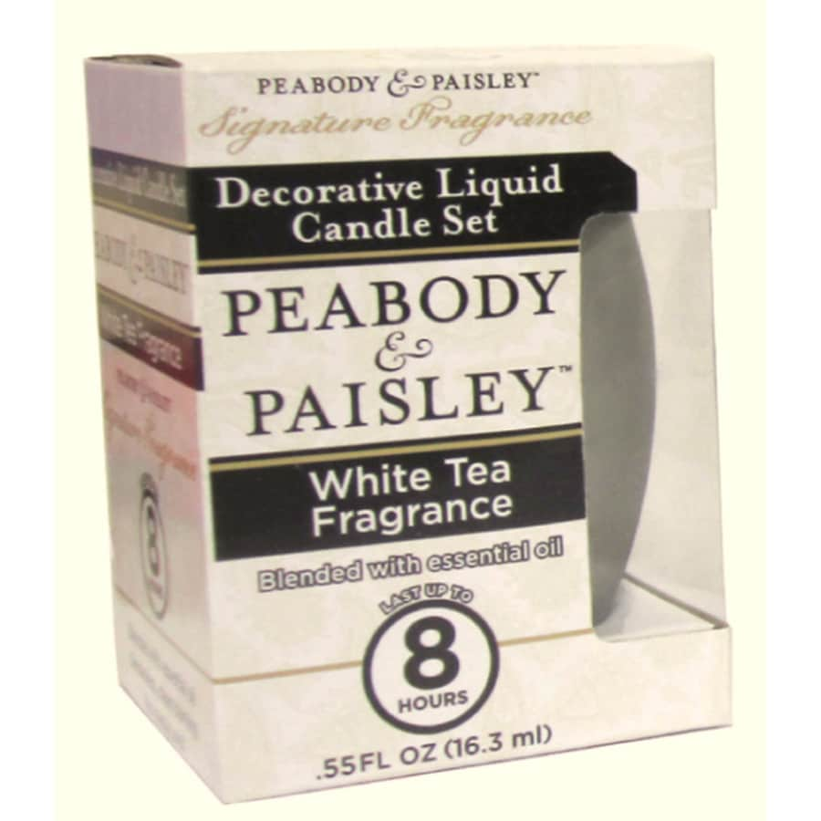 PEABODY & PAISLEY 3.5-in White Tea Frosted Tea Light Candle