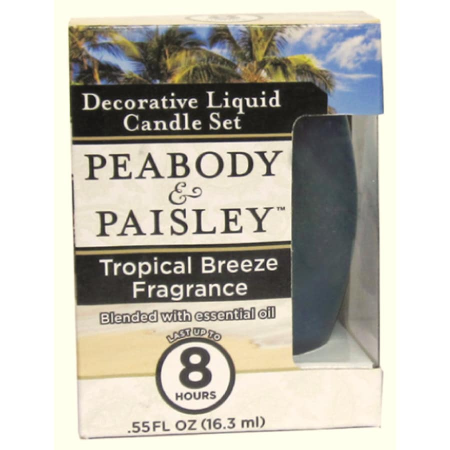 PEABODY & PAISLEY 3.5-in Tropical Breeze Frosted Tea Light Candle