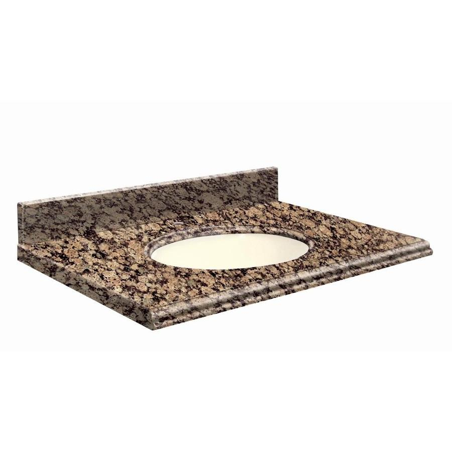 Transolid Baltic Brown Granite Undermount Single Sink Bathroom Vanity Top (Common: 25-in x 19-in; Actual: 25-in x 19.2500-in)
