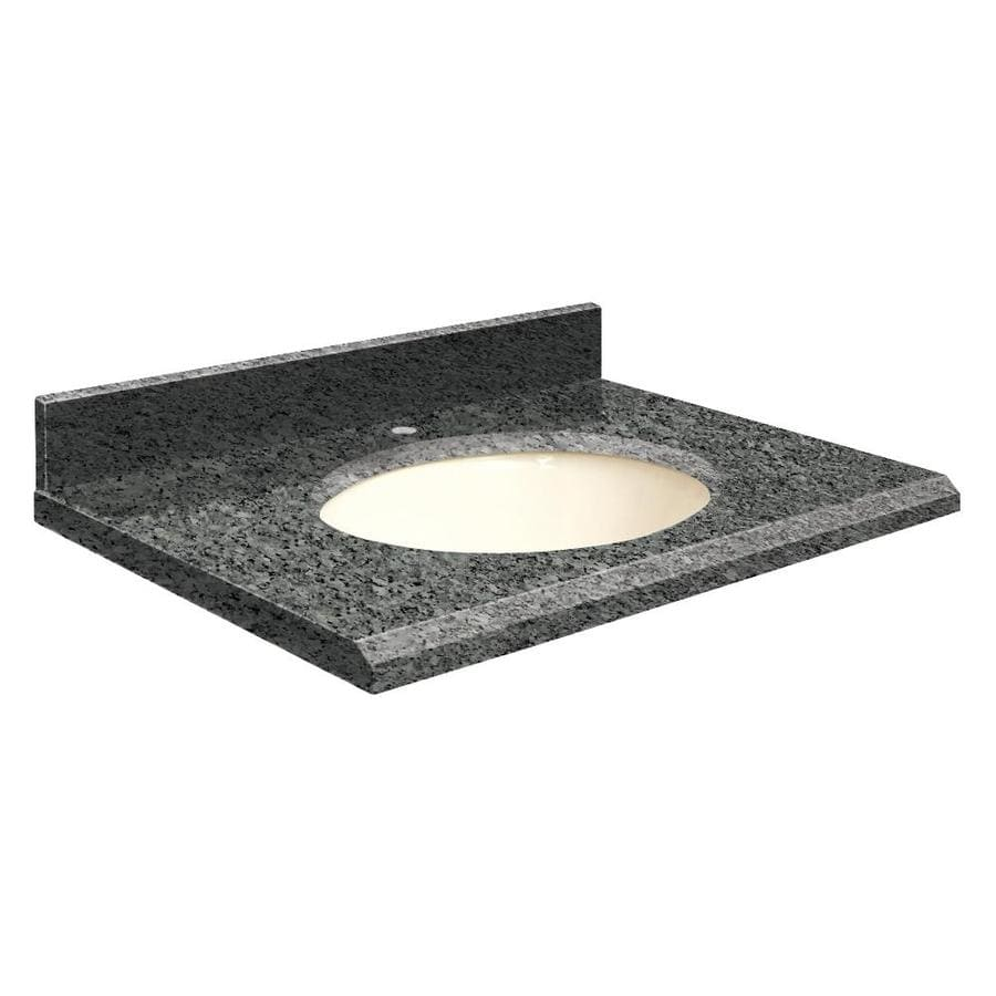 Transolid Blue Pearl Granite Undermount Single Sink Bathroom Vanity Top (Common: 25-in x 19-in; Actual: 25-in x 19.2500-in)