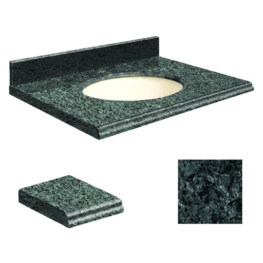 Transolid Blue Pearl Granite Undermount Single Sink Bathroom Vanity Top (Common: 25-in x 19-in; Actual: 25-in x 19.25-in)
