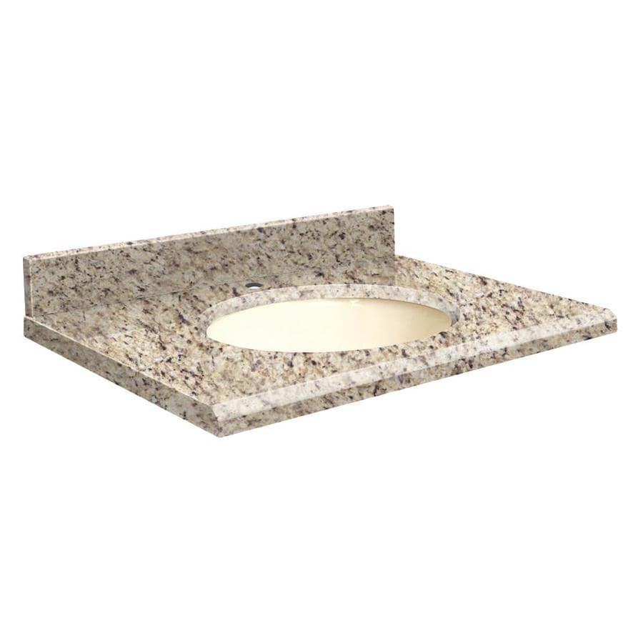 Transolid Giallo Ornamental Granite Undermount Single Sink Bathroom Vanity Top (Common: 31-in x 19-in; Actual: 31-in x 19.2500-in)