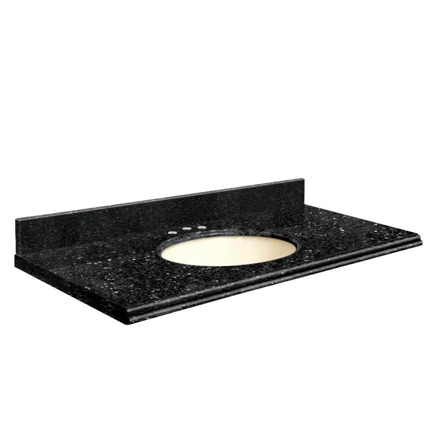 Transolid Notte Black Quartz Undermount Single Sink Bathroom Vanity Top (Common: 31-in x 22-in; Actual: 31-in x 22.25-in)