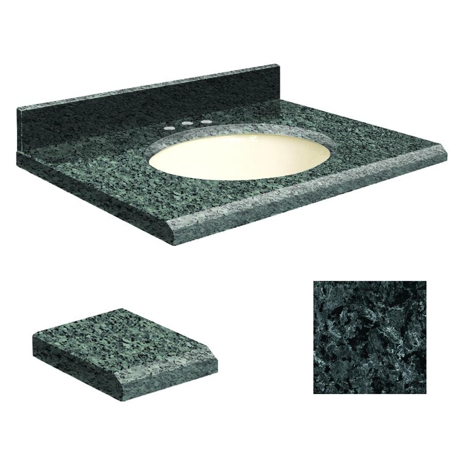 Transolid Blue Pearl Granite Undermount Single Sink Bathroom Vanity Top (Common: 37-in x 22-in; Actual: 37-in x 22.25-in)