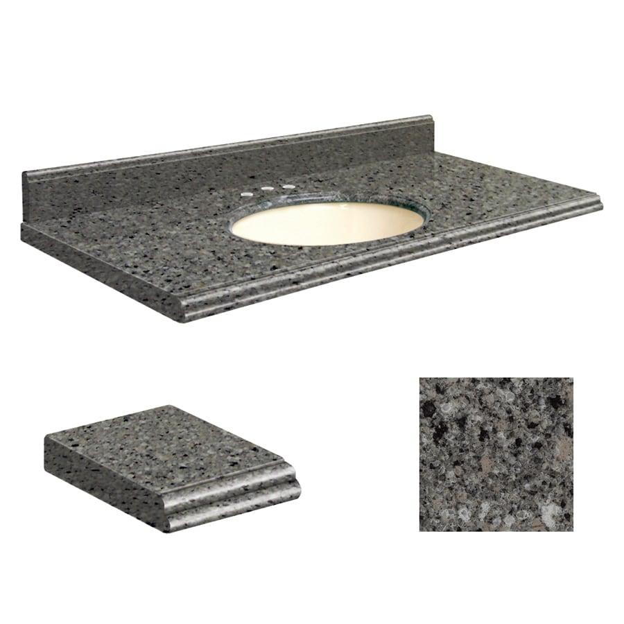 Transolid Canterbury Stone Quartz Undermount Single Sink Bathroom Vanity Top (Common: 43-in x 22-in; Actual: 43-in x 22-in)