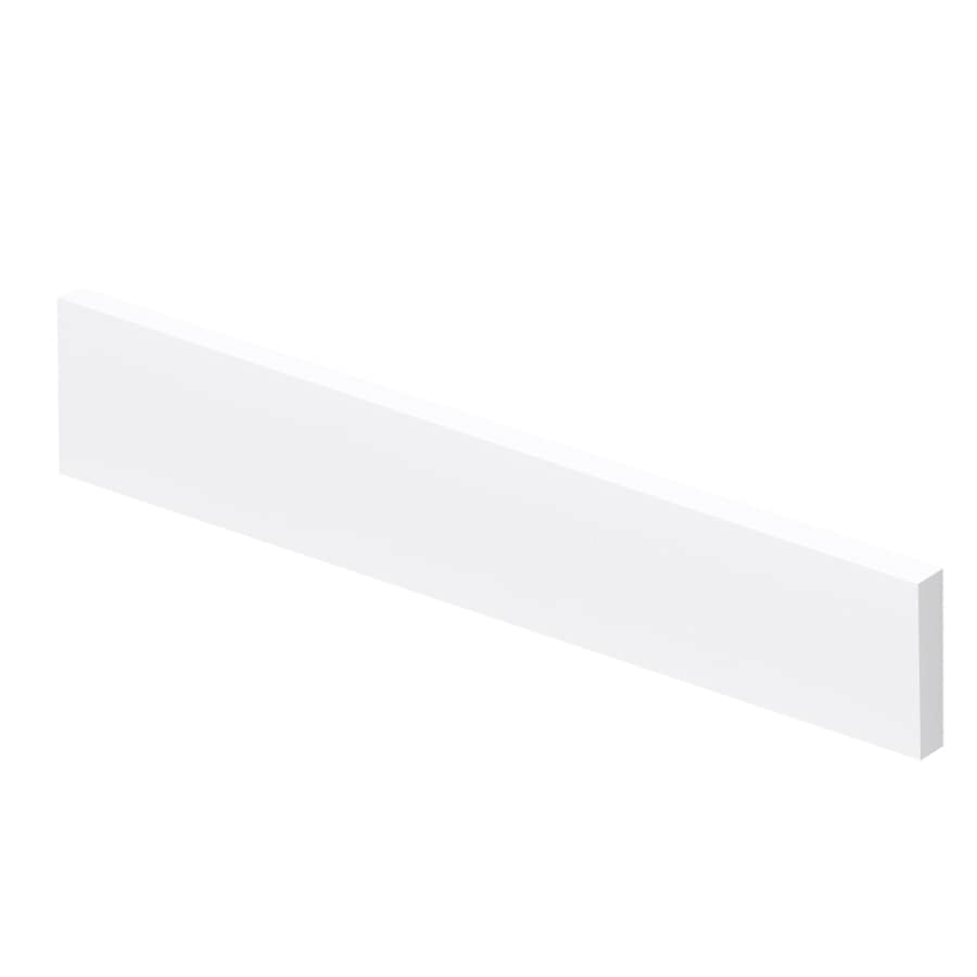 Transolid 4-in H x 22-in L White Bathroom Side Splash