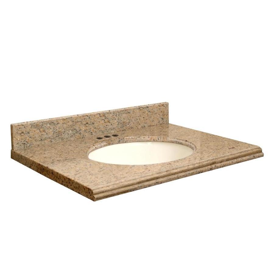 Transolid Giallo Veneziano  Granite Undermount Single Sink Bathroom Vanity Top (Common: 49-in x 22-in; Actual: 49-in x 22-in)