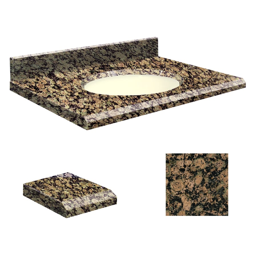 Transolid Baltic Brown Granite Undermount Single Sink Bathroom Vanity Top (Common: 49-in x 22-in; Actual: 49-in x 22-in)