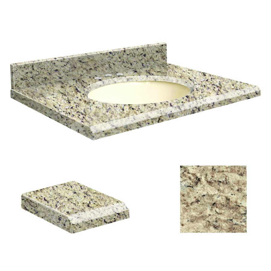 Transolid Giallo Ornamental Granite Undermount Single Sink Bathroom Vanity Top (Common: 49-in x 22-in; Actual: 49-in x 22-in)