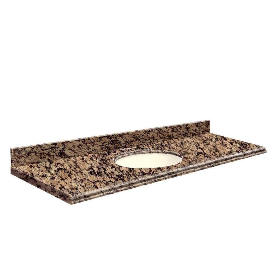 Transolid Baltic Brown Granite Undermount Single Sink Bathroom Vanity Top (Common: 61-in x 22-in; Actual: 61-in x 22-in)