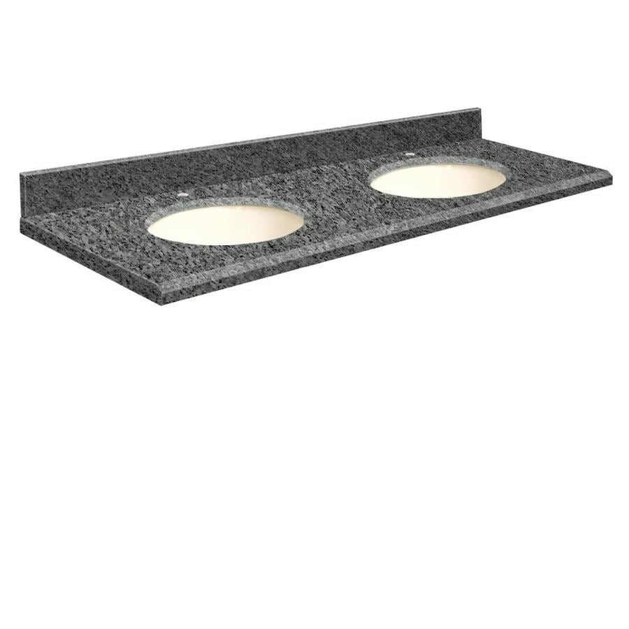 Transolid Blue Pearl Granite Undermount Bathroom Vanity Top (Common: 61-in x 22-in; Actual: 61-in x 22-in)