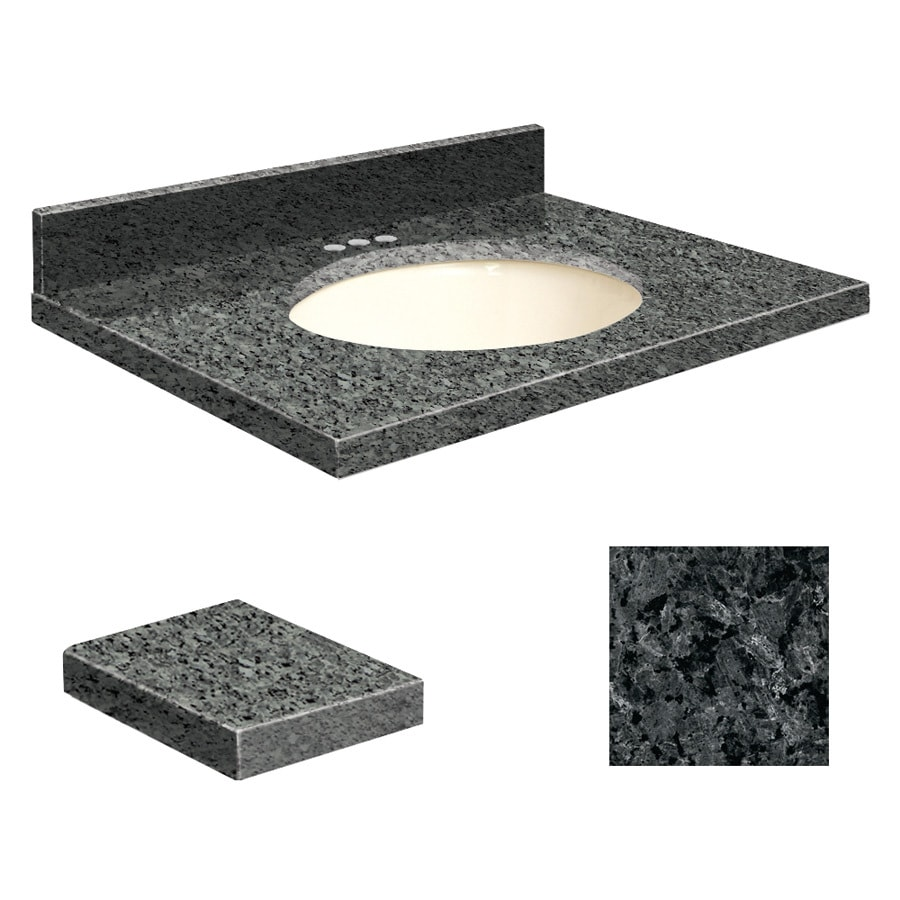 Transolid Blue Pearl Granite Undermount Single Sink Bathroom Vanity Top (Common: 31-in x 19-in; Actual: 31-in x 19.2500-in)