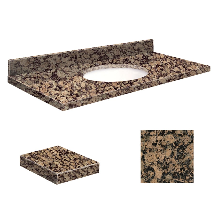 Transolid Baltic Brown Granite Undermount Single Sink Bathroom Vanity Top (Common: 37-in x 19-in; Actual: 37-in x 19.2500-in)