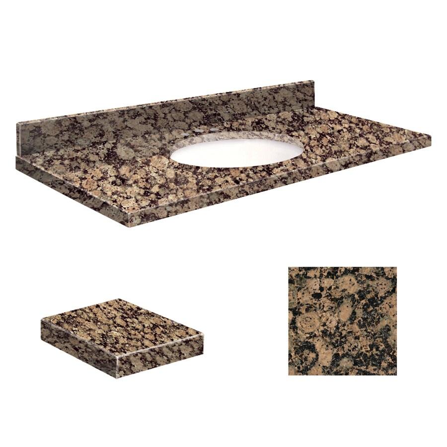 Transolid Baltic Brown Granite Undermount Single Sink Bathroom Vanity Top (Common: 37-in x 19-in; Actual: 37-in x 19.25-in)