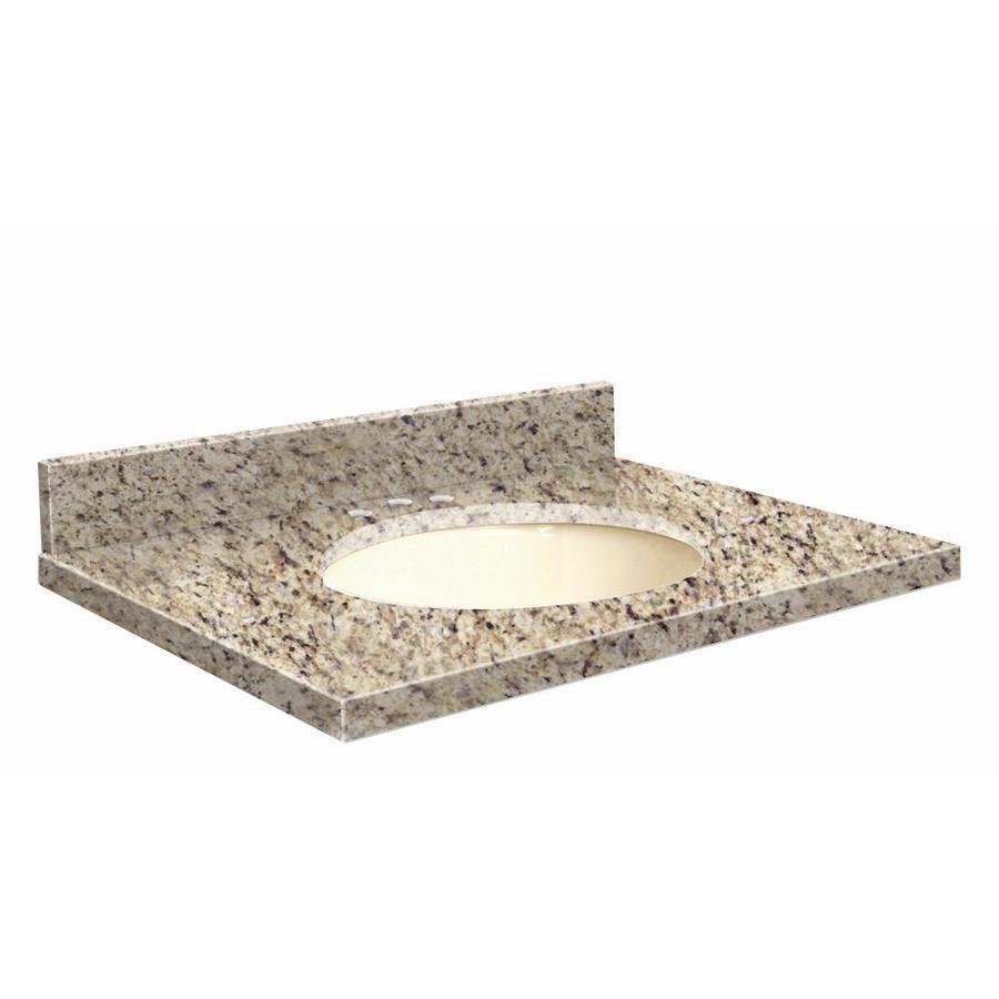Transolid Giallo Ornamental Granite Undermount Single Sink Bathroom Vanity Top (Common: 43-in x 22-in; Actual: 43-in x 22.25-in)