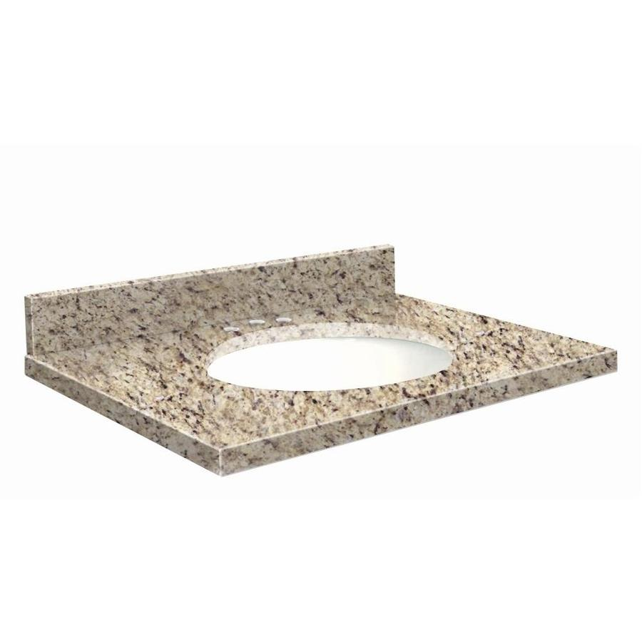 Transolid Giallo Ornamental Granite Undermount Single Sink Bathroom Vanity Top (Common: 43-in x 22-in; Actual: 43-in x 22.25-in)