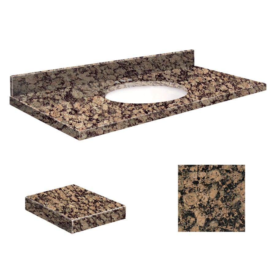 Transolid Baltic Brown Granite Undermount Single Sink Bathroom Vanity Top (Common: 49-in x 19-in; Actual: 49-in x 19.2500-in)