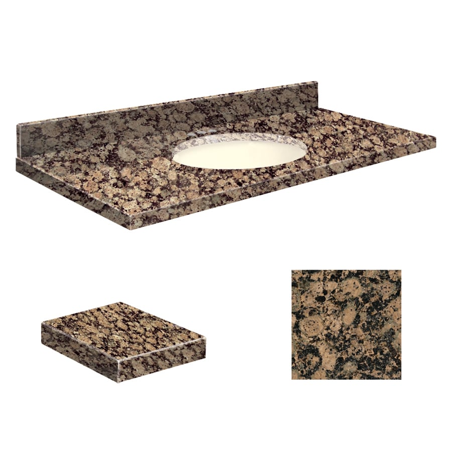 Transolid Baltic Brown Granite Undermount Single Sink Bathroom Vanity Top (Common: 49-in x 22-in; Actual: 49-in x 22.25-in)