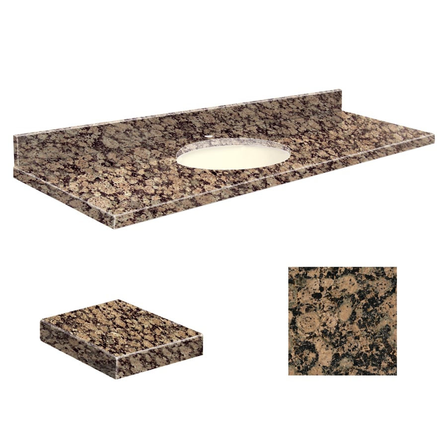 Granite Vanity Tops Product : Shop transolid baltic brown granite undermount single sink