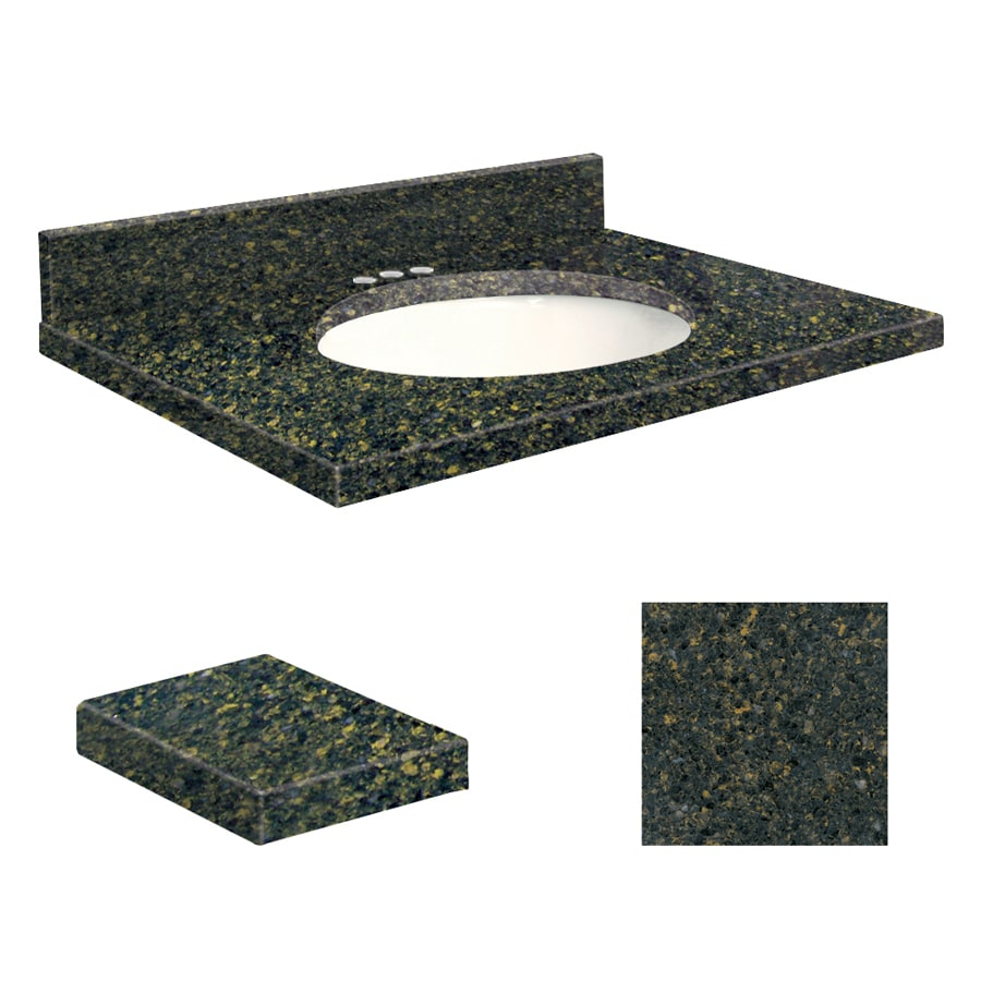 Transolid Manchester Square Quartz Undermount Single Sink Bathroom Vanity Top (Common: 25-in x 22-in; Actual: 25-in x 22.25-in)