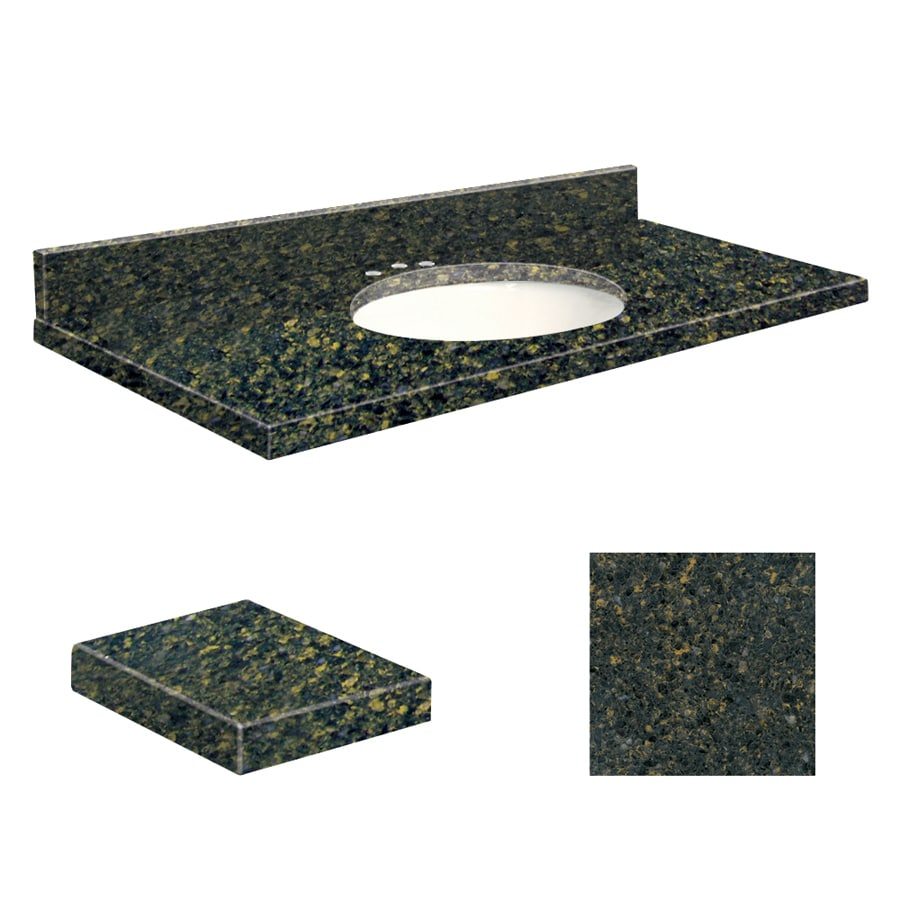 Transolid Manchester Square Quartz Undermount Single Sink Bathroom Vanity Top (Common: 37-in x 19-in; Actual: 37-in x 19-in)