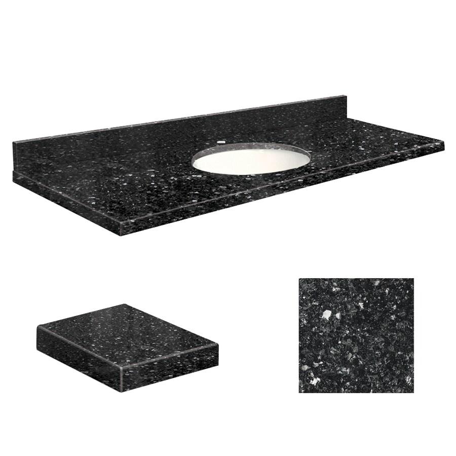 Transolid Notte Black Quartz Undermount Single Sink Bathroom Vanity Top (Common: 61-in x 22-in; Actual: 61-in x 22-in)