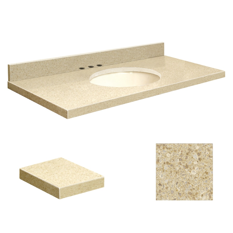Transolid Nature's Path  Quartz Undermount Single Sink Bathroom Vanity Top (Common: 37-in x 22-in; Actual: 37-in x 22-in)