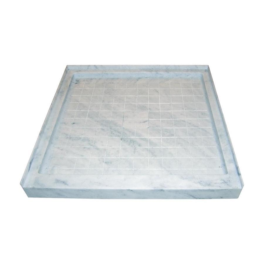 Style Selections White Carrara Solid Surface Shower Base (Common: 36-in W x 36-in L; Actual: 36-in W x 36-in L)