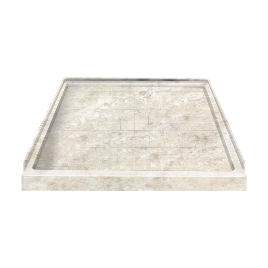 Style Selections Silver Mocha Solid Surface Shower Base (Common: 36-in W x 36-in L; Actual: 36-in W x 36-in L)