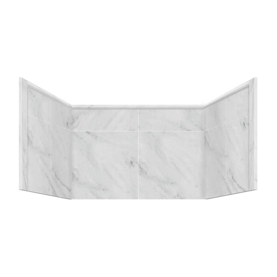 Style Selections White Carrara Shower Wall Window Trim Kit