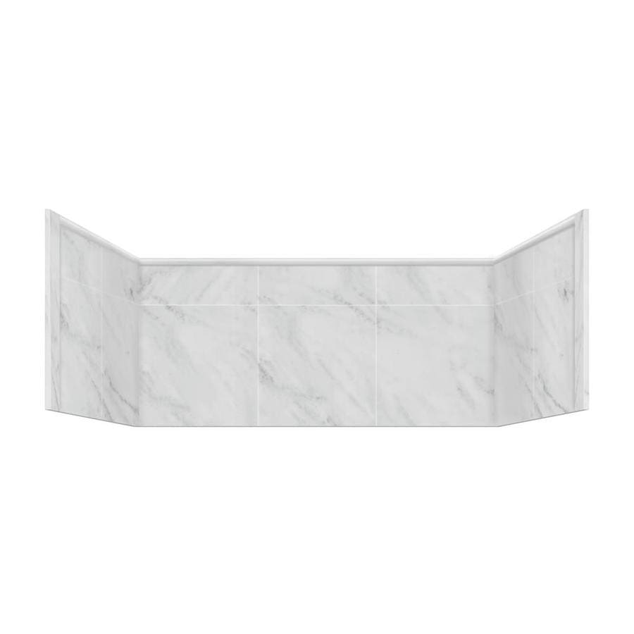Style Selections White Carrara Shower Wall Trim Piece