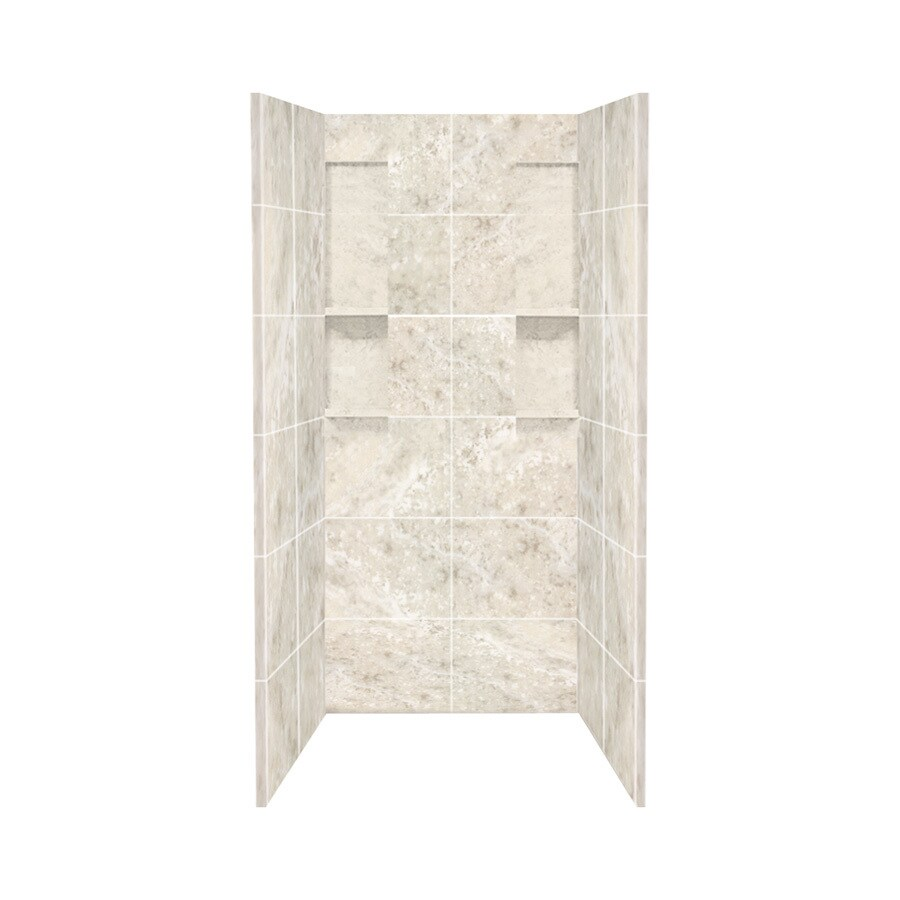 Style Selections Silver Mocha Shower Wall Surround Side And Back Wall Kit (Common: 36-in x 36-in; Actual: 80-in x 36-in x 36-in)