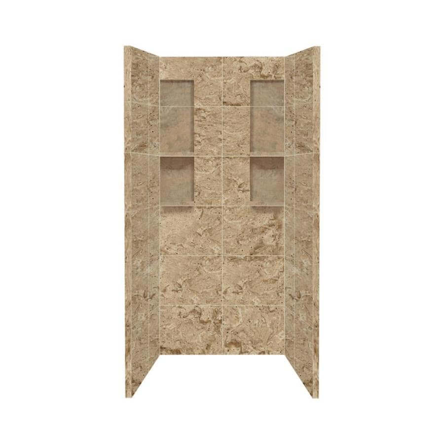 shop style selections sand mountain shower wall surround