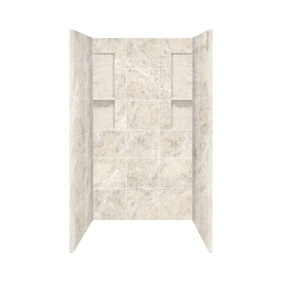 Style Selections Silver Mocha Shower Wall Surround Side and Back Panels (Common: 34-in x 48-in; Actual: 80-in x 34-in x 48-in)