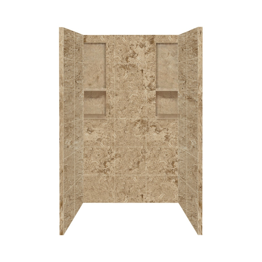 Style Selections Sand Mountain Shower Wall Surround Side And Back Wall Kit  (Common: 34