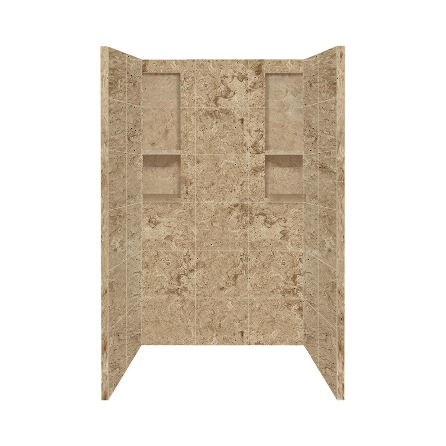Style Selections Sand Mountain Shower Wall Surround Side and Back Panels (Common: 34-in x 48-in; Actual: 80-in x 34-in x 48-in)