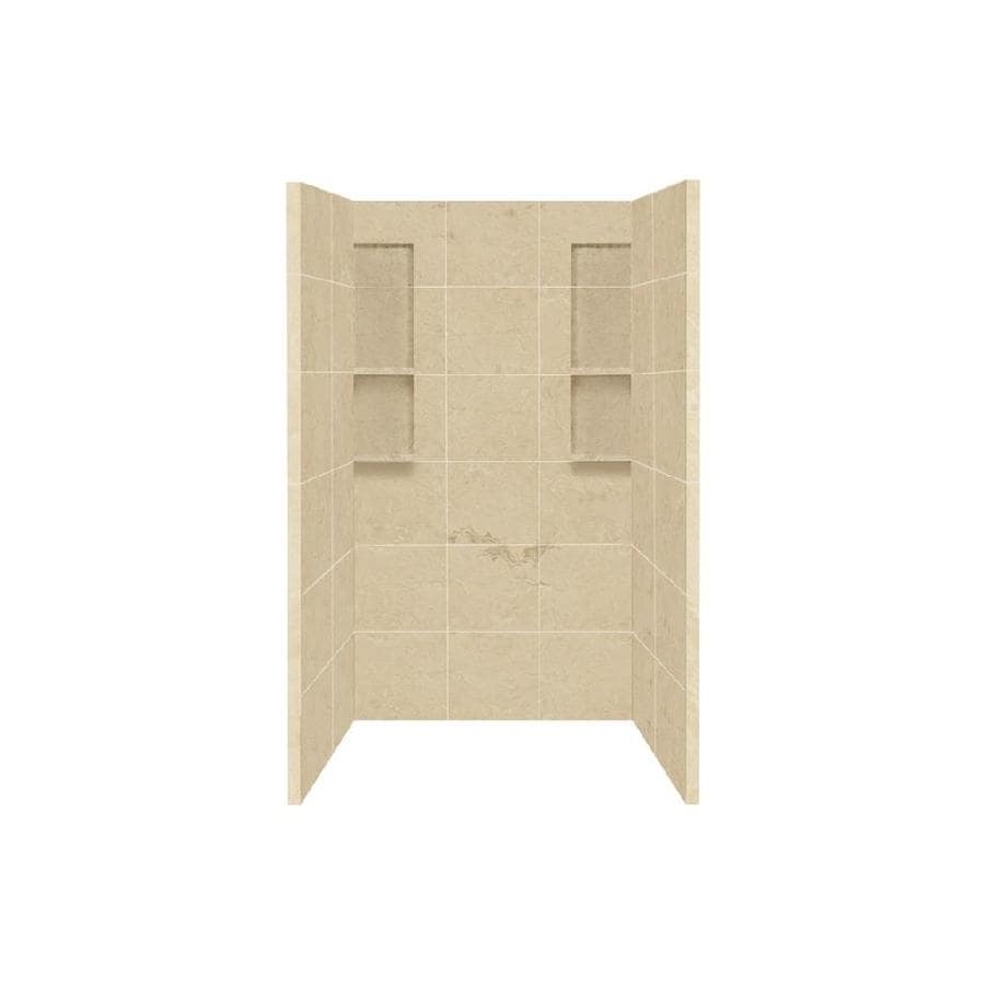 Style Selections Almond Sky Shower Wall Surround Side and Back Panels (Common: 34-in x 48-in; Actual: 80-in x 34-in x 48-in)