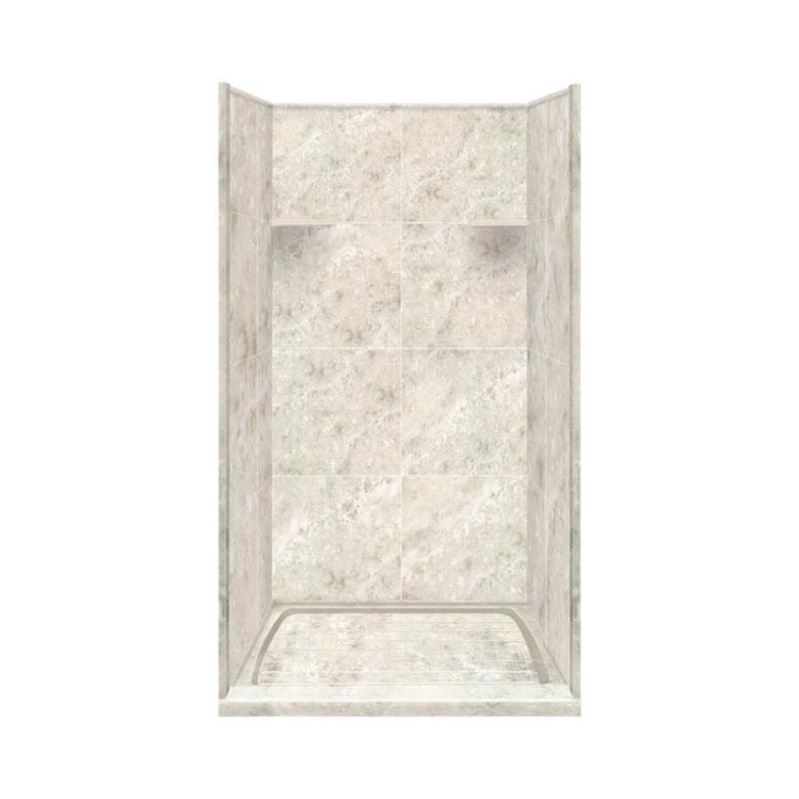 Style Selections Silver Mocha 4-Piece Alcove Shower Kit (Common: 36-in x 36-in; Actual: 36-in x 36-in)