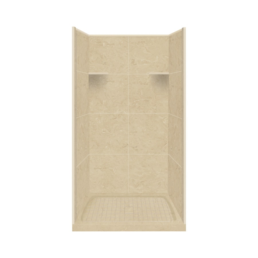 Style Selections Almond Sky 4-Piece Alcove Shower Kit (Common: 36-in x 36-in; Actual: 36-in x 36-in)