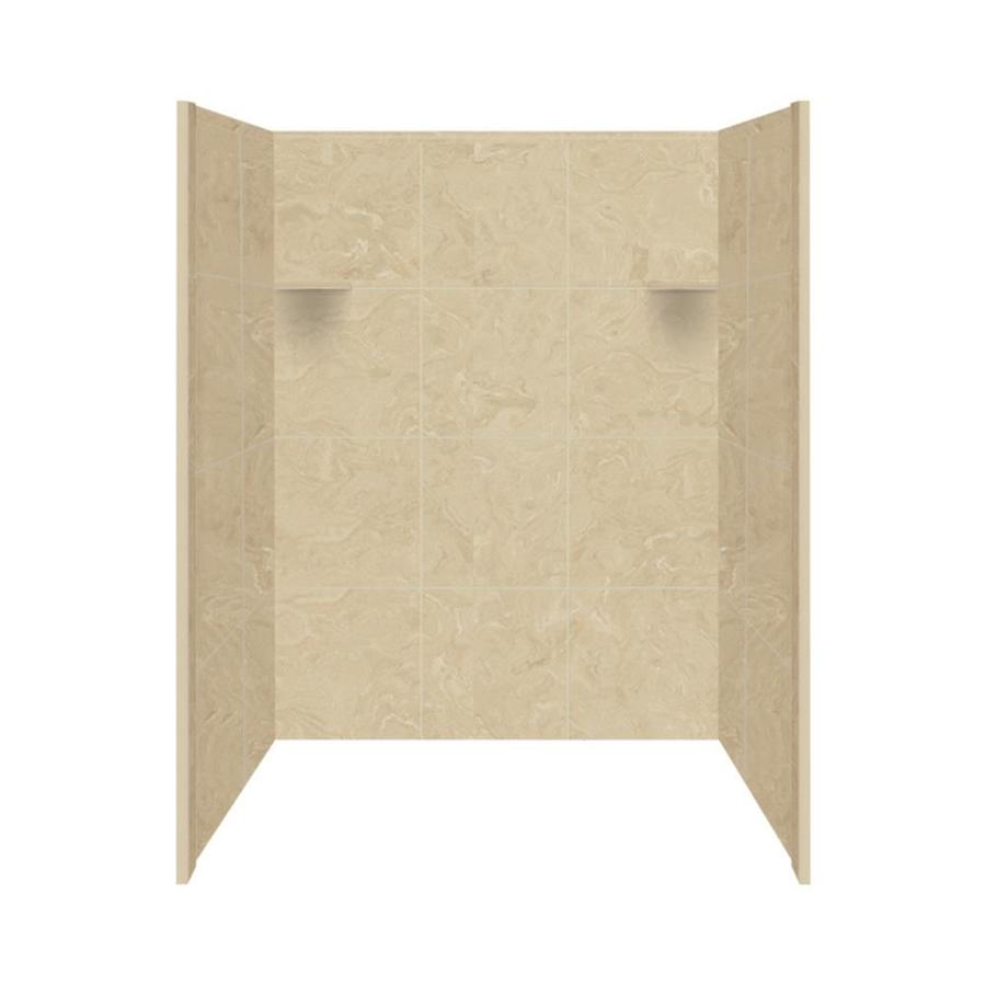 Style Selections Almond Sky Shower Wall Surround Side and Back Wall Kit (Common: 36-in x 48-in; Actual: 72-in x 36-in x 48-in)