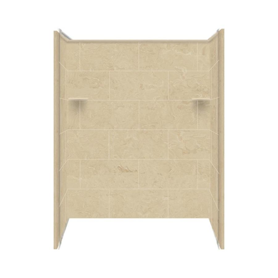 Style Selections Silver Mocha Shower Wall Surround Side And Back Wall Kit (Common: 36-in x 60-in; Actual: 72-in x 36-in x 60-in)